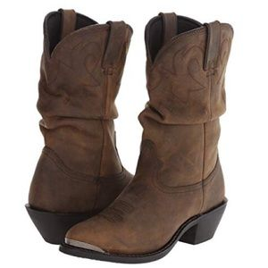 Durango Cowgirl Slouch Boots 🥾 brown Leather 8.5